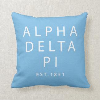 Coussin Alpha est du delta pi |. 1851