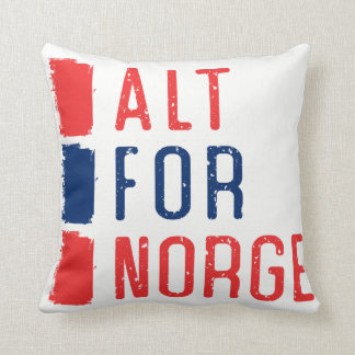 Coussin Alt pour le carreau de Norge, devise norvégienne