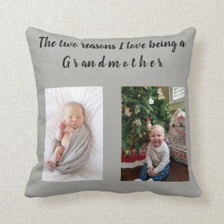 Coussin amour de deux raisons i étant une grand-mère