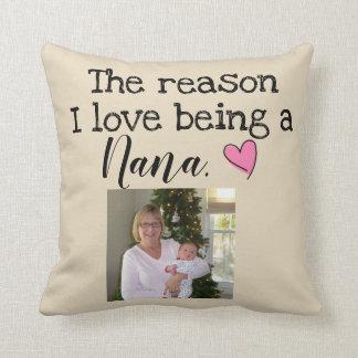 Coussin amour de la raison i étant Nana personnalisée