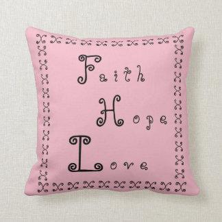 Coussin Amour d'espoir de foi