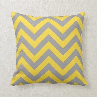 Coussin Ananas, grand motif de zigzag gris-foncé de