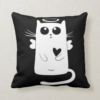 Coussin Ange gardien chat