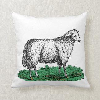 Coussin Animaux de ferme vintages de brebis de moutons