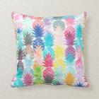 Coussin Aquarelle tropicale de motif hawaïen d'ananas