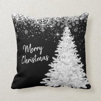 Coussin Arbre de blanc de Joyeux Noël