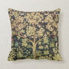 Coussin Arbre de William Morris d'art vintage floral de la
