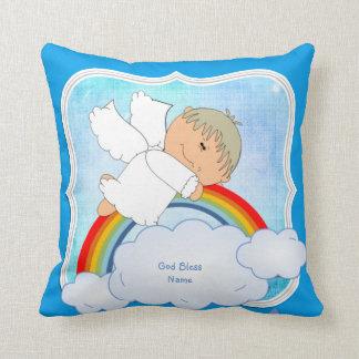 Coussin Arc-en-ciel mignon d'ange de cadeau de filleul
