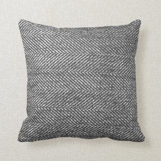Coussin Arête de hareng grise et blanche moderne