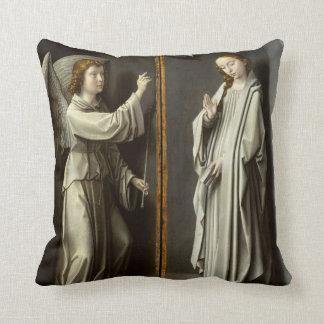 Coussin Arkhangel Gabriel ; La Vierge Annunciate
