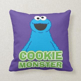 Coussin Art de caractère de monstre de biscuit
