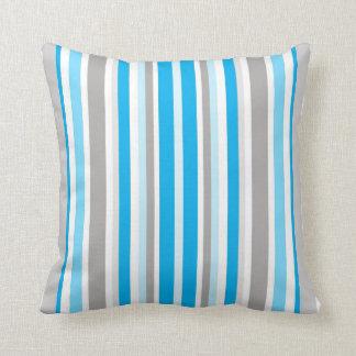 Coussin Art gris blanc bleu de décor de maison de carreau
