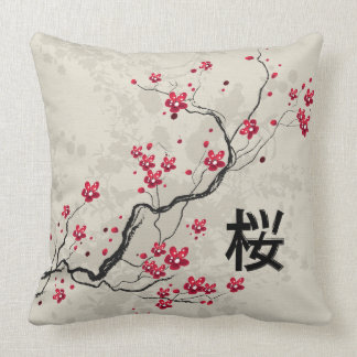 Coussin Art oriental de fleurs de cerisier de Sakura de