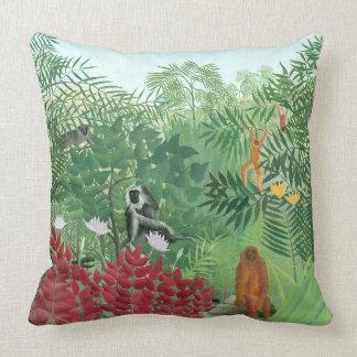 Coussin Art reconstitué de jungle de singe de Henri