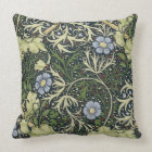 Coussin Art vintage floral de motif d'algue de William