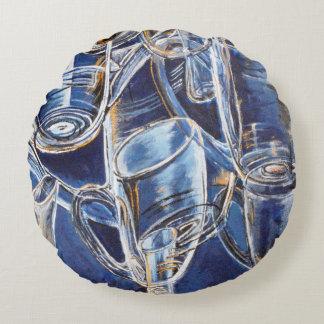 Coussin avec des verres dans le bleu