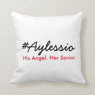 Coussin #Aylessio, son ange, son sauveur