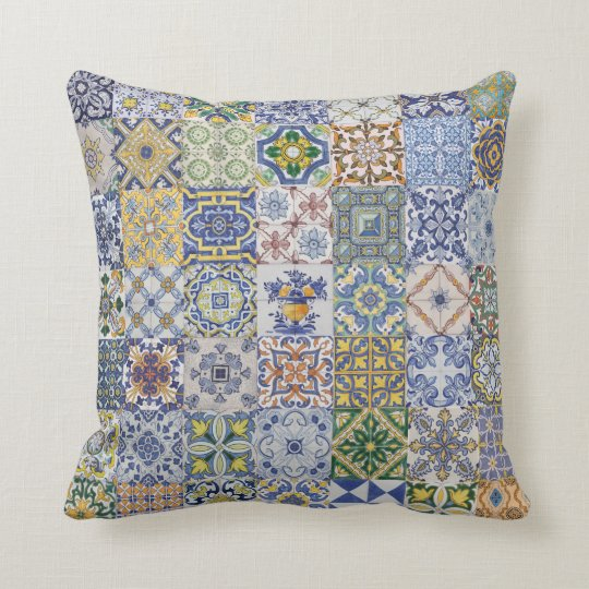 Coussin Azulejos Patchwork