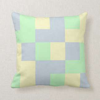 Coussin Beau carreau en pastel Checkered
