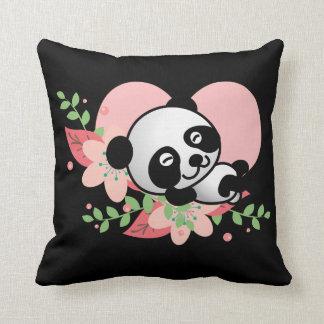 Coussin Bébé de panda dormant ainsi kawaii mignon