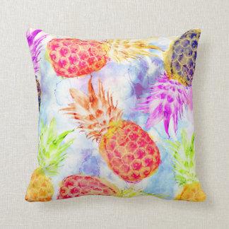 Coussin Belle aquarelle de motif tropical d'ananas