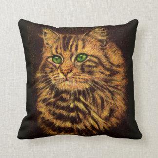 Coussin belle copie aux cheveux longs de chat tigré