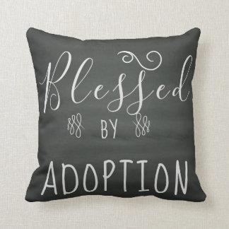 Coussin Béni par adoption - l'accueil, adoptent le cadeau