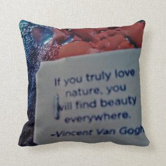 Coussin bilatéral de citation de Van Gogh