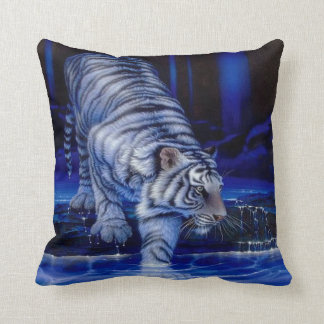 Coussin blanc de tigre