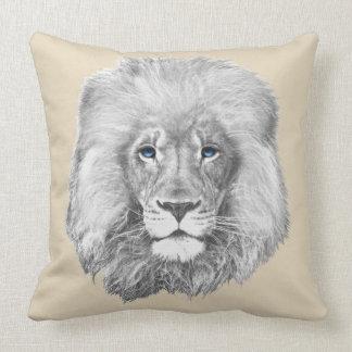 Coussin Blanc-lion