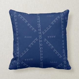 Coussin Bleu avec des boucles