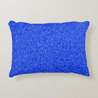 coussin bleu d'accent de polyester de bruit