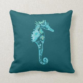 Coussin bleu de bleu d'hippocampe