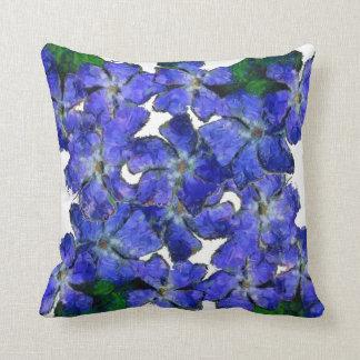 Coussin bleu de conception de bigorneau