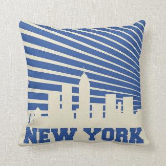 Coussin Bleu de New York City