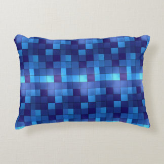 Coussin bleu de plaid