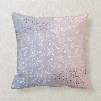 Coussin Bleu de sérénité de quartz rose d'étincelle