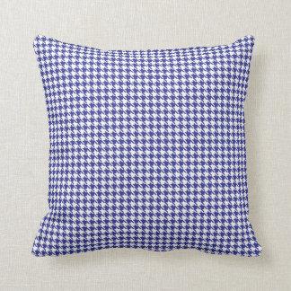 Coussin Bleu et blanc de pied-de-poule