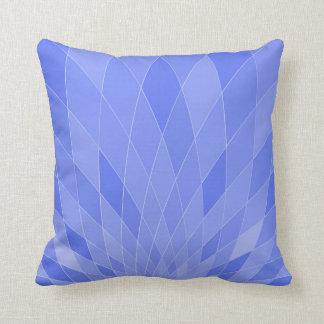 Coussin bleu géométrique numérique moderne