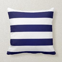 coussins rayures de bleu marine et de blanc personnalis s. Black Bedroom Furniture Sets. Home Design Ideas