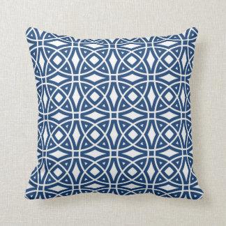 Coussin Bleu marine géométrique oriental de motif