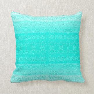 coussin bleu turquoise