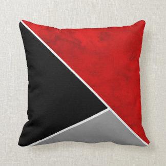 Coussin Bloc noir gris rouge de couleur