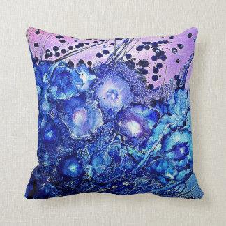 Coussin Blue Purple Floral