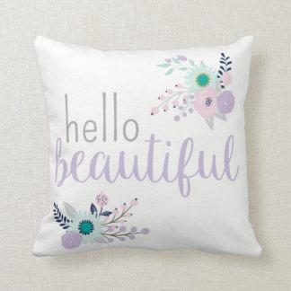 Coussin Bonjour beau floral assez en pastel