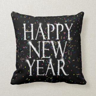 Coussin Bonne année de scintillement