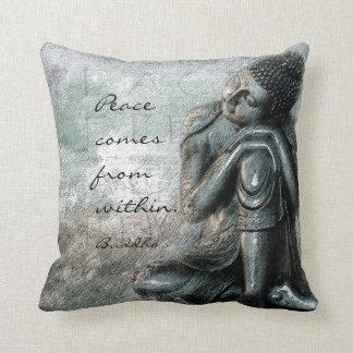 Coussin Bouddha de repos avec la paix citent des mots de