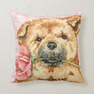 Coussin Bouffe rose de Valentine