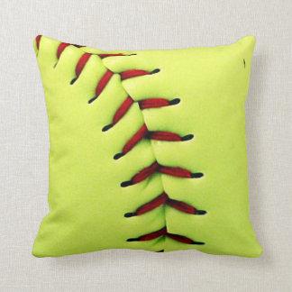 Coussin Boule jaune du base-ball