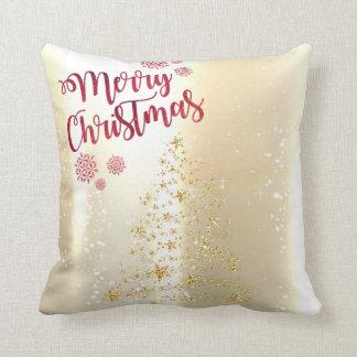Coussin Brillant élégant, arbre de Noël d'or de Faux